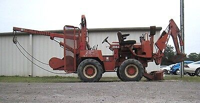 Ditch Witch 5700 4x4 Cable / Pipe Layer Winch, Backhoe Combo Deutz Diesel Engine