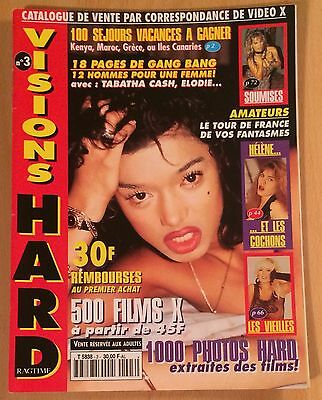 Vision Hard N° 3 / French Magazine Revue Erotic / Tabatha Cash , Elodie