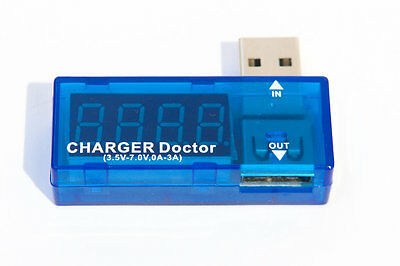 USB Output Voltage and Ammeter Diagnostic Device Charger Doctor US Seller