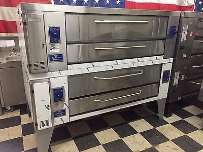 Pizza Oven Bakers Pride Brick Stone Y600 Y602 Y-602 Gas Double Stacked Ovens NEW