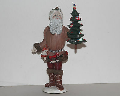 "1983 Duncan Royale History of Santa Claus Figure Statue 12"" Pioneer"
