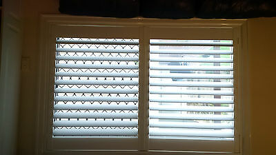 Shutters Plantation Timber White to fit Opening 620 W X 600mm H One Panel Only