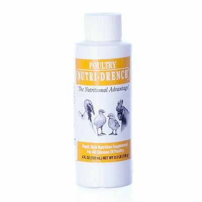 Poultry Nutri-Drench NutriDrench 4 oz Nutritional Supplement Chick Game Hens