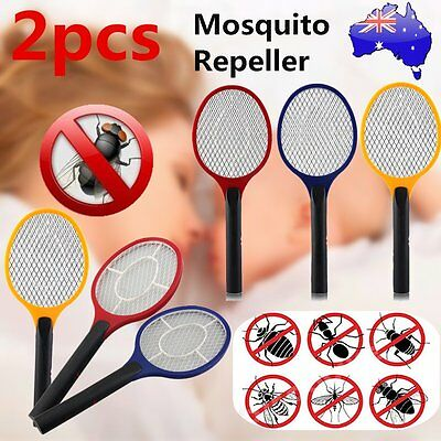 2X Electric Practical Insect Bug Fly Mosquito Zapper Swatter Killer Racket ks