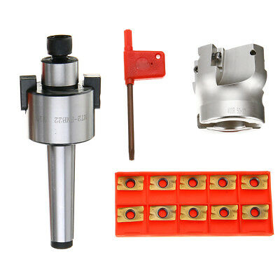 MT2 400R 50mm Face End Mill Cutter + APMT1604 Carbide Inserts with Wrench X10
