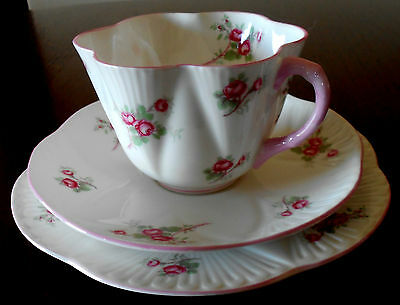 """Shelley Dainty Trio Cup Saucer Plate """" Rose Spray """" Pink Floral *MINT*. #13545"""