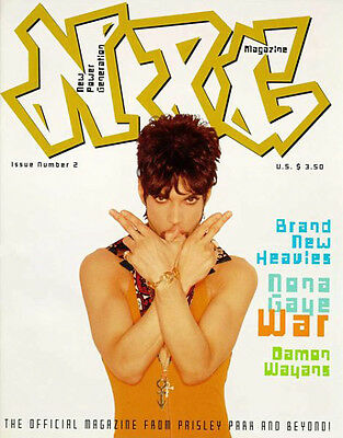 PRINCE NPG Magazine Rare Issue 2 with POSTER Official NEW Mint