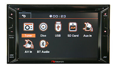 """Nakamichi Na1600 Bluetooth 6.2"""" Dvd Usb Car Stereo Cd Ipod Iphone Aux Player"""