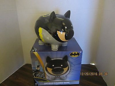 DC BATMAN Cermic Piggy Bank Great Color 6.38 W x 6.5 in  H x 8.06 D