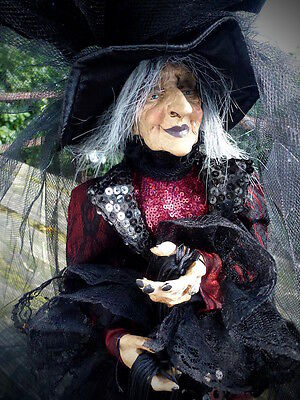 """black witch doll figurine 23"""" tall decoration new nice gift"""