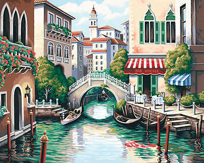 "Paint Works Paint By Number Kit 20""X16"" Scenic Canal 91303"