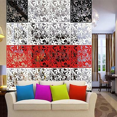 4pcs Butterfly Flower DIY Hanging Screen Room Divider Panels Wall Curtain Decor