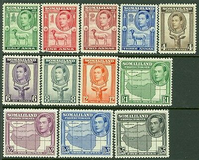 SOMALILAND: 1938. Stanley Gibbons #93-104 Very Fine, Mint NH. Catalog £150.00.