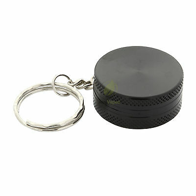 HERB GRINDER - Black Aluminium Keyring Grinder 30mm - 2 pc. - Muller Crusher