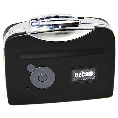 Tape to PC USB Cassette-to-MP3 Converter Capture Audio Portable Music Player BU