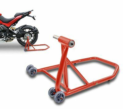 Paddock stand rear Ducati Monster 1100/ Evo 09-13 red single sided swing