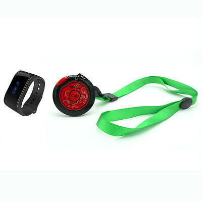SINGCALL Wireless Nurse Pager Calling Systems,1 Waterproof Watch 1 Necklace Bell