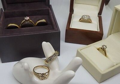 Multiple Items Job Lot of Seven Gold and Diamond Rings