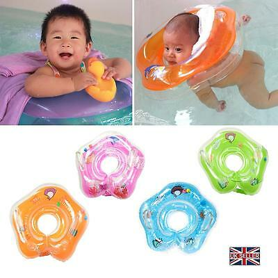 UK Adjustable Baby Swimming Neck Float Inflatable Ring Safety Aids 1-24 Months