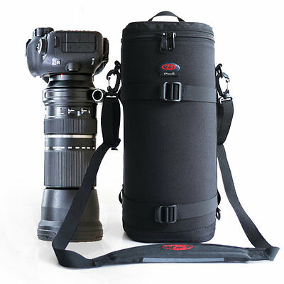 Large Telephoto Lens Pouch Case Bag For Tamron / Sigma 150-600mm Nikon 200-500mm