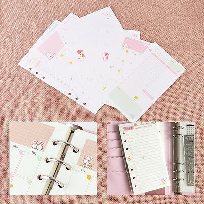 A5 A6 45 Sheets Daily Week Month Ruled Planner Diary Insert Refill Schedule Note