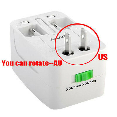 Travel Power Plug Socket Adaptor Converter All-in-One for US UK EU AU Universal