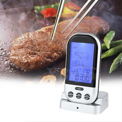 Wireless Thermometer BBQ Food Cooking Meat Barbecue Digital Thermometer C#