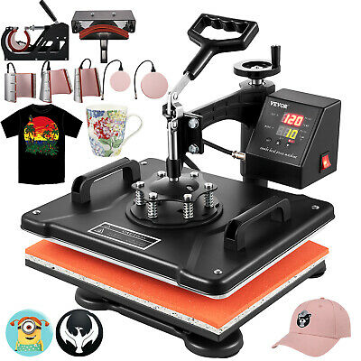 """8 in 1 Combo Heat Press Transfer Sublimation T-Shirt+Jigsaw puzzle+Plate 15""""X12"""""""
