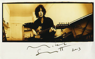 "Mike Scott "" The Waterboys ""  Hand Signed Colour Photograph."