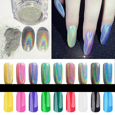 1x Holographic Nagel Pigment Puder Pulver Mirror Powder Nail Art Chrome Glitter