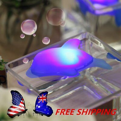 Baby Kids Bath LED Dolphin Light Lamp Lovely Toy Colorful Flashing Changing F#