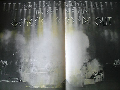 """Genesis 1977 Advert For """"seconds Out"""" A2 Double Page"""