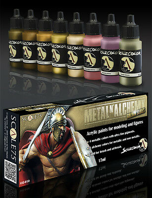 PAINT SET METAL ALCHEMY GOLD SSE-010 Acrylic paint Scale75 Airbrush Brush