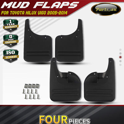 Set of 4 Mud Flaps Splash Guards for Toyota Hilux Vigo 2005-2014 Front and Rear