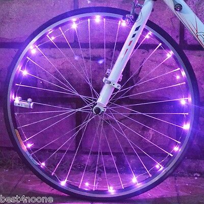 Bicycle Cycling 20 LEDs Safety Spoke Wheel Light Colorful Cool Bike Accessories