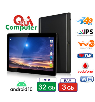 Tablet Pc 10,1 Pollici Android 5.1 Quad Core  Ram 2 Gb Rom 16 Gb  3G Integrato