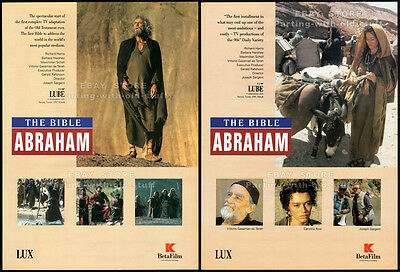 ABRAHAM - THE BIBLE__Original 1993 Trade Print AD / TV promo ad__RICHARD HARRIS