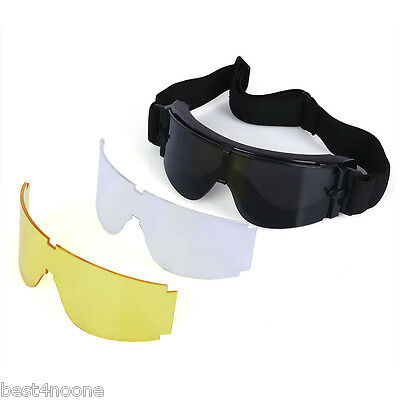 X800 Tactical CS Game Windproof Sunglasses Multifunction Cycling Hunting Glasses