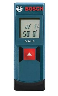 NEW - Bosch GLM 15 Compact Laser Measure, 50 Feet