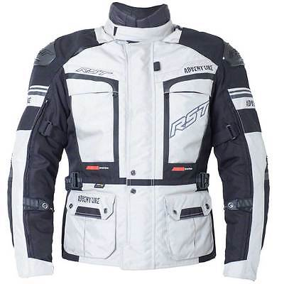 NEW RST Adventure 3 III Silver Motorcycle Motorbike Textile Jacket | All Sizes