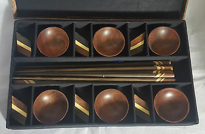 Beautiful Oriental Chopstick and Dipping Bowl Set (Boxed)