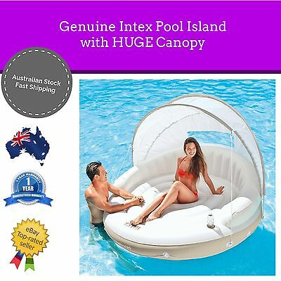 NEW Genuine Intex Pool Chair Giant Canopy Pool Inflatable Swimming Lounge HUGE