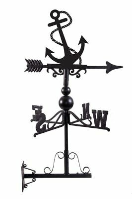 Hand Made Cast Iron and Steel Ship Anchor Design Wall Mounted Weathervane