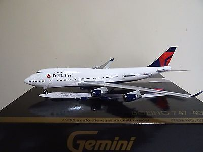 Gemini Jets 1:200 Delta Airlines Boeing 747-400 N668US (G2DAL582)