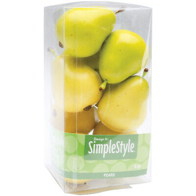 Design It Simple Decorative Fruit 9/Pkg Yellow & Green Pears RS9804