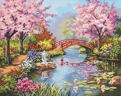 "Paint Works Paint By Number Kit 20""X16"" Japanese Garden 91415"