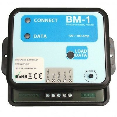 NASA Clipper BM1 BT Bluetooth Battery Monitor Instrument 12 Volt