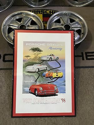 Vintage 1998 Porsche Poster 'west Coast Holiday' *rare
