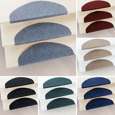 15 Piece Carpet Stair Tread Mats Step Staircase Floor Mat Protection Cover Pads