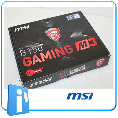 Placa base ATX MSI B150 GAMING M3 ddr4 Socket 1151 con Accesorios